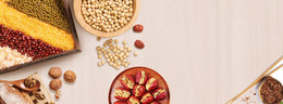 红枣坚果养生简易减肥简餐背景