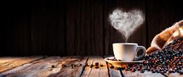 简约咖啡豆爱心棕色背景
