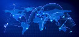 世界知识产权日 蓝色世界地图