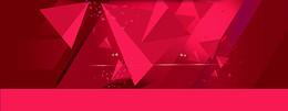红色立体几何背景