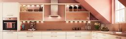 时尚厨房家具背景
