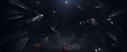 黑色大氣創意科幻背景素材