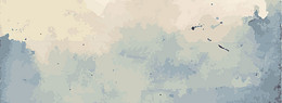 水墨中国风蓝色海报banner背景