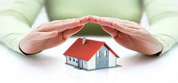 别墅房屋财产保险海报背景