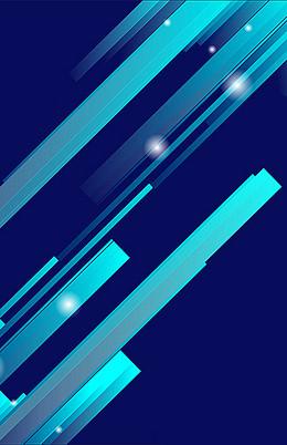 蓝色扁平H5背景