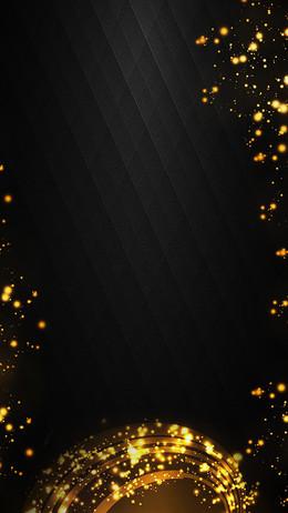 黑色质感纹理金光PSD分层H5背景素材