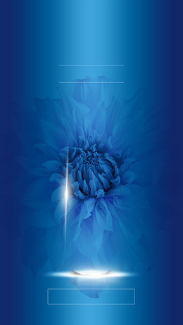 蓝色海洋梦幻化妆品H5背景