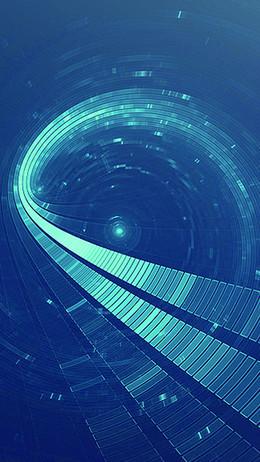 蓝色炫酷科技感H5背景