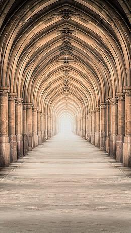 歐式建筑走廊