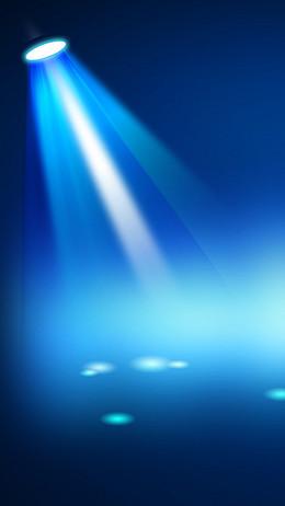 舞台灯光背景蓝色射灯效果PSD分层素材