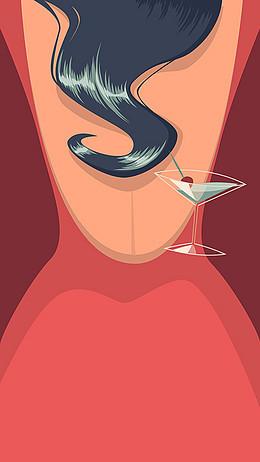 復古雞尾酒party海報