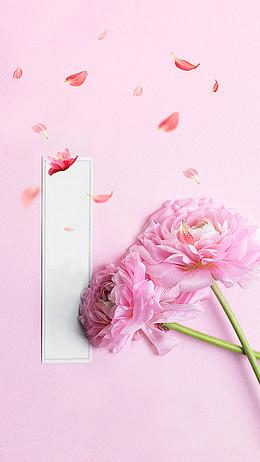 粉红浪漫花瓣H5背景