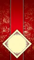 红色背景上的方框H5素材背景