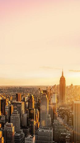 美国纽约城市背景