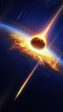 彗星陨石H5背景