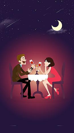 情侣浪漫约会背景