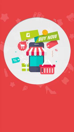 线上购物类APP引导页设计psd分层下载