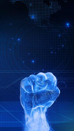 闪烁科技感线条PSD分层H5背景素材