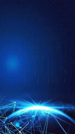 人工智能智能时代科技H5背景素材