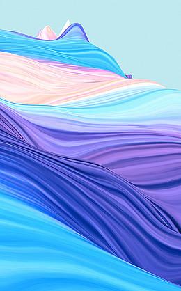 彩色质感H5背景