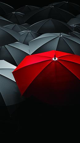 雨伞摄影H5背景