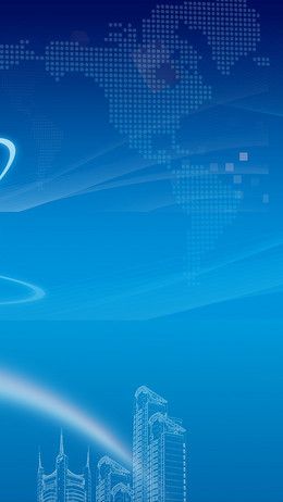 商务蓝色科技白云发光矢量H5背景素材