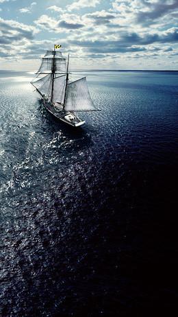 扬帆起航科技h5背景图