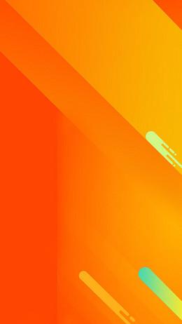 橙色扁平H5背景