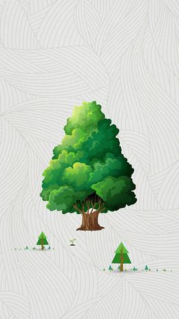 绿色植树节背景素材
