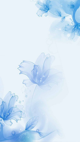蓝色梦幻花朵化妆品H5背景