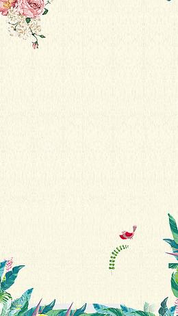 绿色花纹花边H5背景
