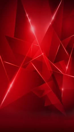 红色几何狂欢背景
