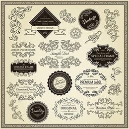 古典欧式花纹边框