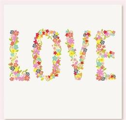 花卉愛的藝術字
