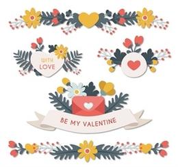 情人節花卉貼紙