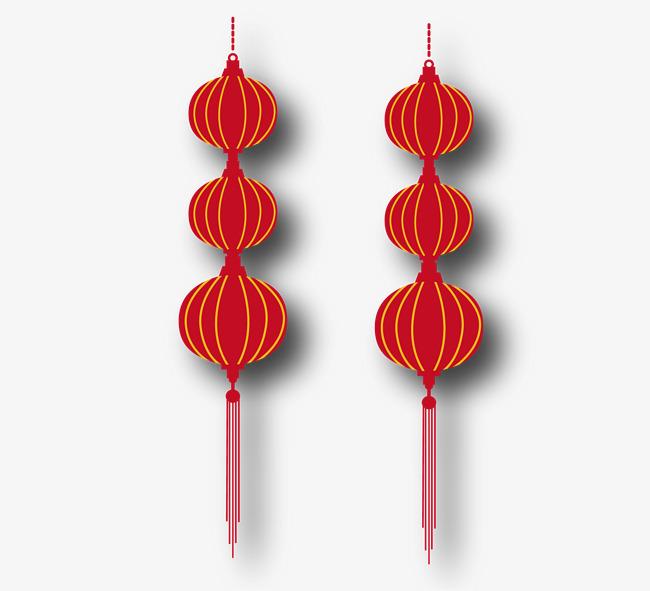 春节灯笼矢量素材,来自爱设计http://www.asj.com.cn