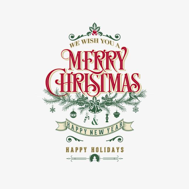复古圣诞艺术字海报矢量素材,来自爱设计http://www.asj.com.cn