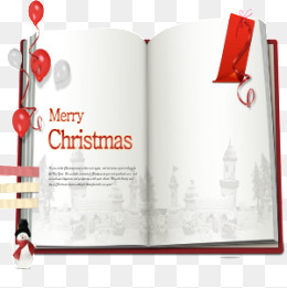 书页上的圣诞祝福