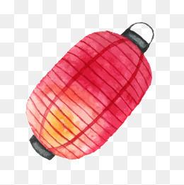 中国风手绘红色灯笼