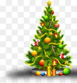 圣诞带星带礼物树