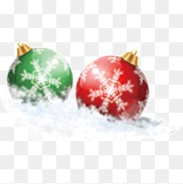 雪地里的圣诞球