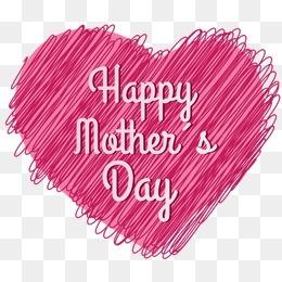 母亲节线条爱心矢量素材