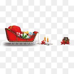 红色圣诞雪橇