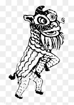 舞狮简笔画
