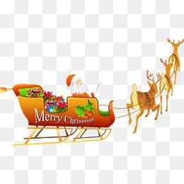 开着鹿车的圣诞老人