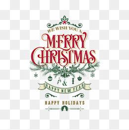復古圣誕藝術字海報矢量素材