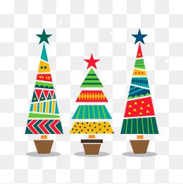 矢量圣诞树元素