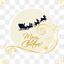 圣誕之夜賀卡矢量素材