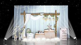 小清新天藍色婚禮迎賓區展示區