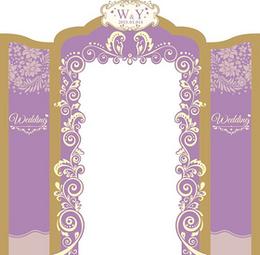 婚慶紫色背景圖片